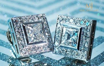Handcrafted Custom Made Diamond Earrings For Women